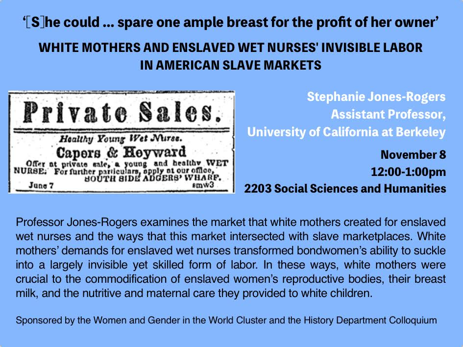 On White Mothers and Enslaved Wet Nurses